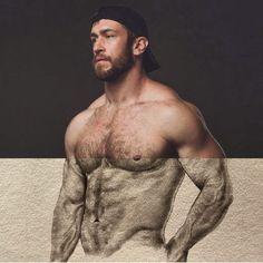 """Trevor LaPaglia on Instagram: """"Art by @jaycruzart #fanart #sketch #pencildrawing #musclebear Photo by @dexterbrownfoto"""""""