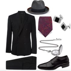 Mens fashion. 1920s Speakeasy Prohibition style