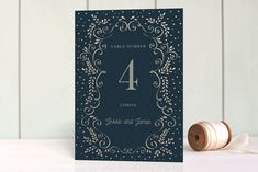 Frame Of Love Foil-Pressed Wedding Table Numbers by Ana de Sousa at minted.com