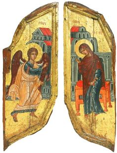 Royal Doors with the Annunciation - exhibited at the Temple Gallery, specialists in Russian icons Religious Icons, Religious Art, Royal Doors, Russian Icons, Byzantine Art, Orthodox Icons, Sacred Art, Abstract Styles, 14th Century