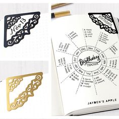 Demystifying Bullet Journal Myths - BuJoing Bullet Journal Graphics, Bullet Journal Stencils, Bullet Journals, Art Journals, Birthday Tracker, Beautiful Handwriting, Corner Bookmarks, Journal Aesthetic, Business Planner