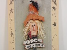 Country Primitive Scarecrow Pattern Woodworking Crafts