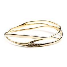 Alexis Bittar - Gold Interlaced Bangle :: Jewelry :: Women's Accessories :: Womens :: Oak Hall #oakhall