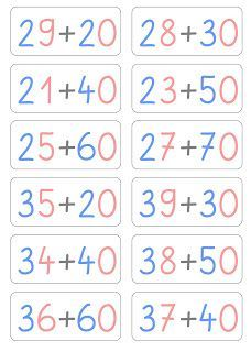 Lernstübchen: Aufgabenkarten zum Rechnen mit Zehnerzahlen (2)