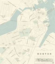 Boston Harbor map by Newhouse Maps