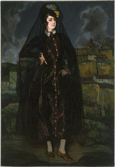 labellefilleart:  Portrait of Anita Ramírez in Black, Ignacio Zuloaga y Zabaleta