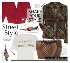 """Gucci T-shirt"" by aidasusisilva ❤ liked on Polyvore featuring C. Wonder, Gucci, 7 For All Mankind and Louis Vuitton"