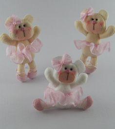lembrança ursa bailarina chaveiro/imã | Anika Mimos loja 2 | Elo7