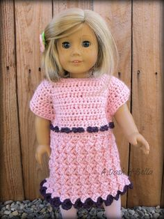 American Girl Doll Party Dress Crochet Pattern by ADashofBella, $5.00