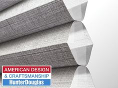 Classic Interiors in Macomb, MI carries Hunter Douglas window coverings, which are designed and custom-assembled right here in the United States. Hunter Douglas Blinds, Window Styles, American, Stuff To Buy, Design, Products, Design Comics, Beauty Products
