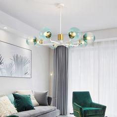 Lustre LED en métal verre pour salon chambre salle à manger, Noir/Or/Blanc Lustre Led, Living Room Bedroom, Pendant Lamp, Wrought Iron, Chandelier, Ceiling Lights, Modern, Home Decor, Study Rooms