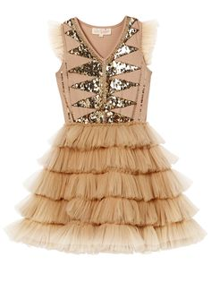 Luminescent Tutu Dress - Nougat