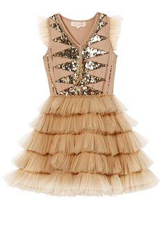 Luminescent Tutu Dress - Nougat