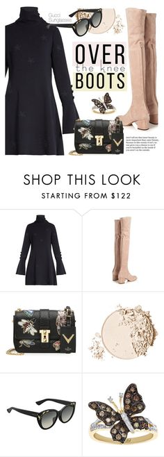 """""""Fall Footwear: Over-The-Knee Boots"""" by smartbuyglasses-uk ❤ liked on Polyvore featuring See by Chloé, Valentino, Too Faced Cosmetics, Gucci and Boots"""
