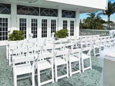 Wedding Ceremony on Patio/deck.  Imperial Ballroom.  Grand Plaza Resort.  St Pete beach, Florida weddings.  www.grandplazaflorida.com
