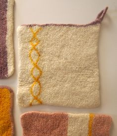 Whit's Knits: Four Felted Hot Pads