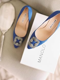Something blue Manolo shoes