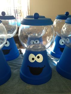 Cookie Monster Table Centerpieces