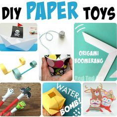 DIY Paper Toys - Red Ted Art - - DIY Paper Toys – here over 12 fantastic paper toys the kids can make and play with. We love how versatile and fun paper can be! Paper Crafts For Kids, Easy Crafts For Kids, Projects For Kids, Diy For Kids, Fun Crafts, Easter Crafts, Fair Projects, Summer Crafts, Summer Fun