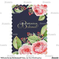 Shop Will you be my Bridesmaid? Custom Invitations created by YourWeddingDay. Wedding Party Invites, Wedding Invitation Design, Bridal Shower Invitations, Custom Invitations, Wedding Stationery, Invitation Cards, Wedding Favors, Bridesmaid Proposal Cards, Wedding Bridesmaids