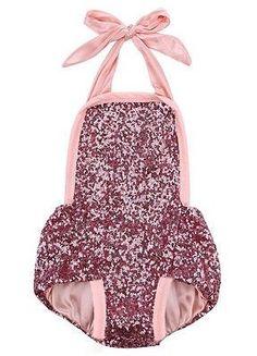 946ef817287 Pink Glitter Sequin Romper For Newborn