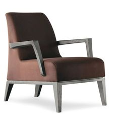 Luna Upholstered lounge armchair  Frame: beech Upholstery: fabric, ecoleather, leather by Alexander Lorenz