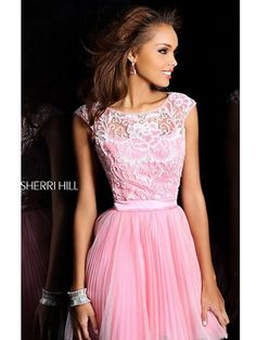 Short, Pink Dress With Cap-Sleeves