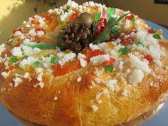 Roscón de Reyes con masa madre,cocina tradicional,bollo.