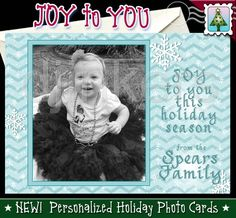 joy to you, holiday photo card, christmas photo card, custom card, personalized card