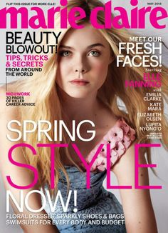 Elle Fanning on the cover of Marie Claire May 2014