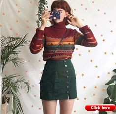 80s vintage outfit @liberty.mai 2019 liberty.mai green skirt vintage sweater autumn outfit The post 80s vintage outfit @liberty.mai 2019 appeared first on Sweaters ideas.