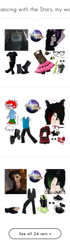 """""""Dancing with the Stars, my way"""" by brainyxbat ❤ liked on Polyvore featuring INDIE HAIR, claire's, Capezio, Gotta Flurt, 7 For All Mankind, Worn By, Converse, Lacoste, Sean John and Disney"""