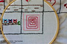 30 Days of Creativity - Day 14 #embroidery