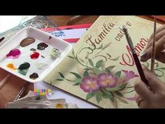 Mayumi Takushi - Maleta floral (OPA) - YouTube Hobbies And Crafts, Diy And Crafts, Pintura Country, Painting Videos, Craft Videos, Art Tutorials, Stencil Opa, Youtube, Stenciling
