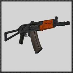 Full Size AKS-74U Assault Rifle Free Gun Paper Model Download - http://www.papercraftsquare.com/full-size-aks-74u-assault-rifle-free-gun-paper-model-download.html