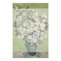 Vase of Roses by Vincent Van Gogh Personalized Flyer