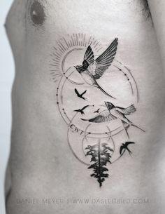 Professional blackwork, geometric and dotwork tattoo artist, located inLos Angeles California Brother Memorial Tattoo, Daniel Meyer, Small Back Tattoos, Blackwork, Tattoo Artists, Tatoos, Birds, Memories, Blog