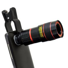 BIAL Universal 8X Phone Telescope Camera Lens Clip-on for IOS Android Smartphones Monocular Telescope Black. 8X Optical Zoom Telescope Camera Lens for watching games, concerts, travel, photography. multi layers green coating glass technology ensures high clarity quality images. Universal detachable clamp design, can work on most types of mobile phones, tablet and so on. made out of ABS and soft rubber, easy to hold, lightweight and durable. It can be also used as a mini independent…