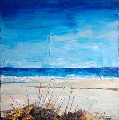 Impasto ~ beach scene painting