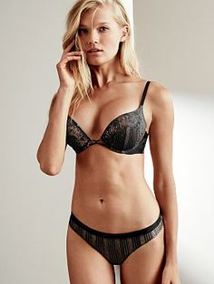Victoria's Secret: Banded Lace Add-2-Cups Push-Up Bra