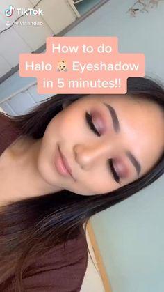 Asian Eye Makeup, Eye Makeup Steps, Makeup Eye Looks, Natural Eye Makeup, Eyeshadow Looks, Eyebrow Makeup, Skin Makeup, Edgy Makeup, Romantic Eye Makeup