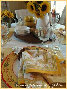 Provençal breakfast table (1) From: Rosemary Thyme Blogspot, please visit