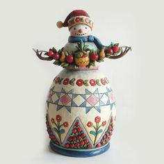 ♥♥♥ JIM SHORE Welcome Winter Williamsburg Snowman Figurine by Jim Shore 4027829 ♥♥♥