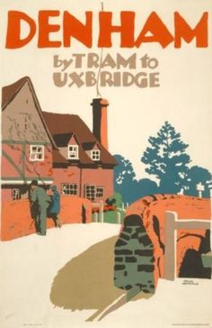 Denham By Tram 1923 BUCKINGHAMSHIRE -