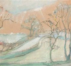 Artwork by Anne Redpath, A borders landscape