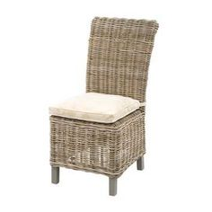 """joss and main Cushion included  Rattan is dipped in hot mud for about 2 weeks to give it a rich color  Staining process enhances its performance against outdoor elements  Perfect for outdoor covered areas   Dimensions: 41"""" H x 19"""" W x 24"""" D"""
