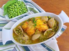 Cocinando para ellos : GUISO DE RAPE CON GUISANTES DE MI HUERTA..