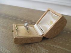 Vintage Ring Box ~ Ciro of Bond Street ~ English Engagement Ring Box