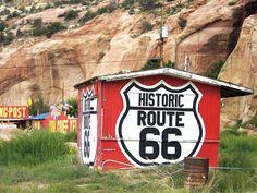 Route 66 through New Mexico