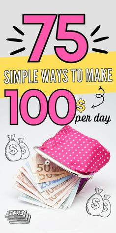 Here are 75 clever ways to earn at least $100 per day. These surprising ways to earn and extra $100 per day are perfect for folks learning to make extra money quickly. Work From Home Opportunities, Work From Home Jobs, Make Money Fast, Make Money From Home, Grocery Savings Tips, Teaching English Online, Show Me The Money, Managing Your Money, Financial Goals